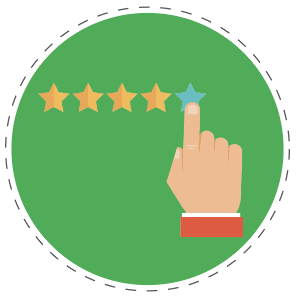 5 Star Rating Graphic