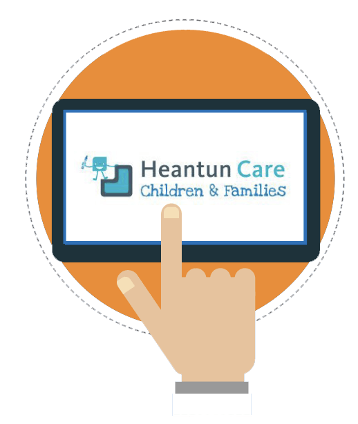 Heantun Logo on Tablets Graphic