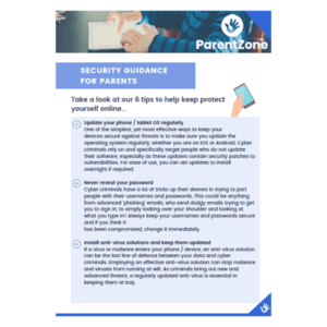 Secuirty Guidance for Parents factsheet cover