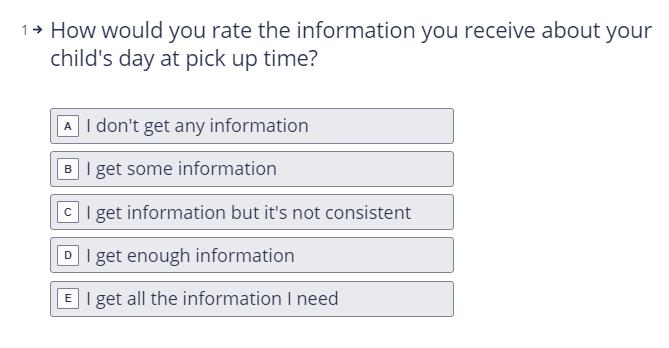 Parent Survey 4