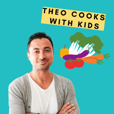 Theo Cooks with kids