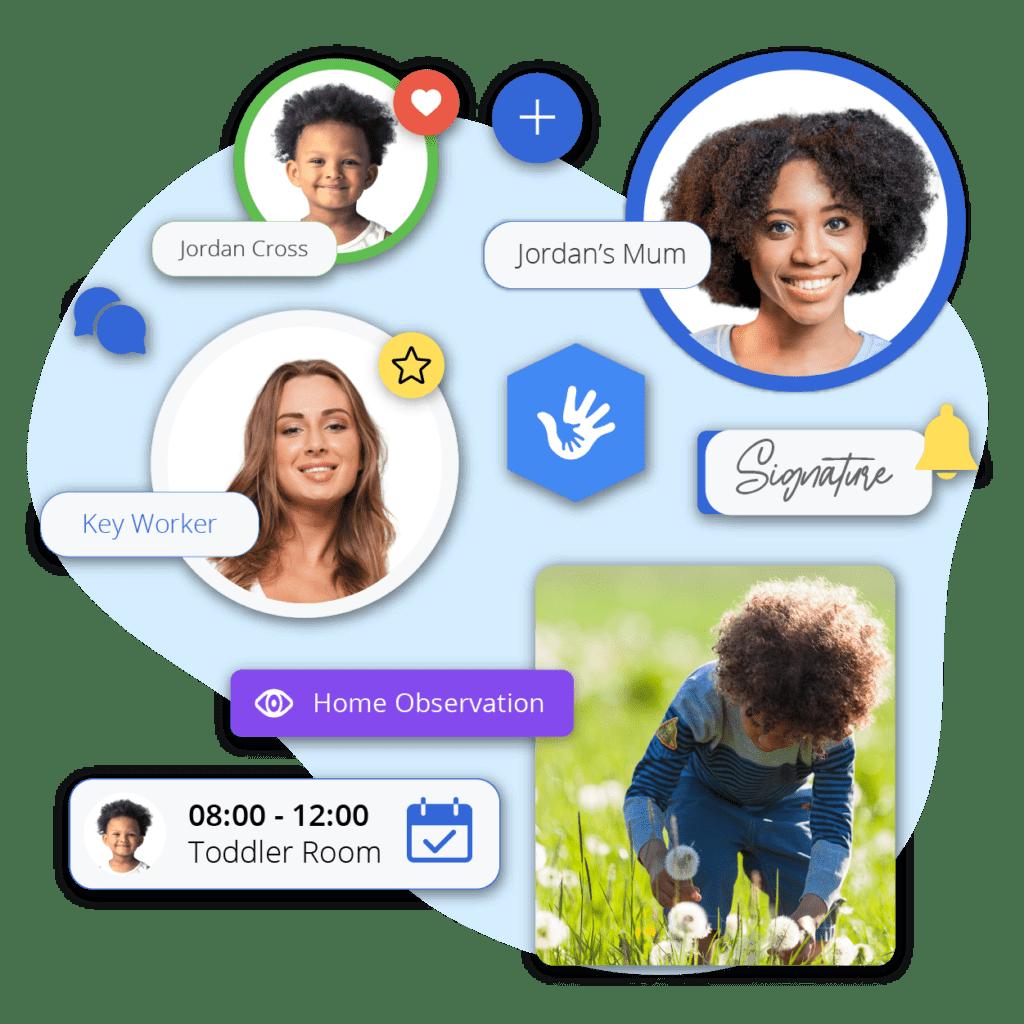Parent app for nurseries