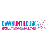 Dawn Until Dusk before and after school holiday club logo case study